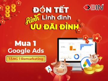 Đón Tết linh đình - Rinh ưu đãi đỉnh Khi mua 1 gói Google Ads tặng ngay 1 gói Remarketing