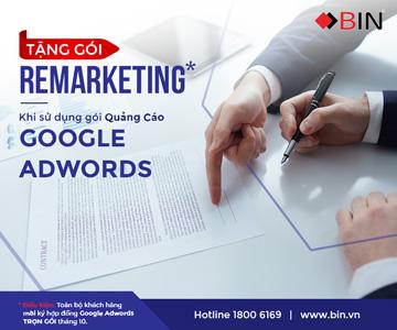 Ký hợp đồng google ads nhanh - doanh thu tăng mạnh - tặng thêm gói remarketing