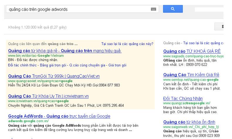 Quang cao tren Google