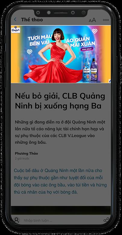 Quảng cáo xuất hiện trên trang bài viết Zing News